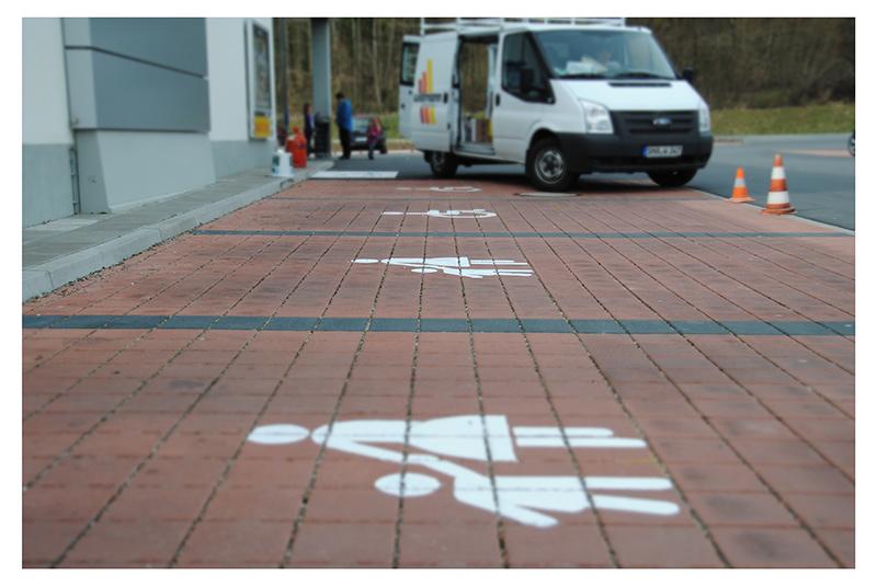 Widmann Gruppe - Maler Wörtz - Senden - Beschriftung und Markierung
