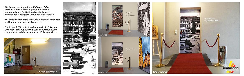Widmann Gruppe - Maler Wörtz - Senden - Grafisches Raumdesign - Konzeption