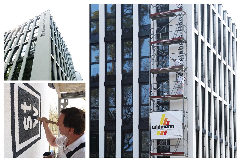 Widmann Gruppe - Maler Wörtz - Senden - Fassade - Beschriftung